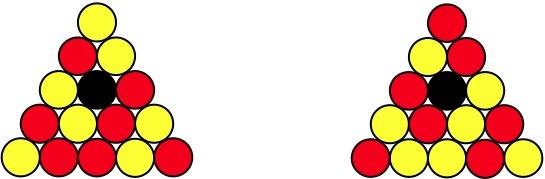 billard rouge et jaune